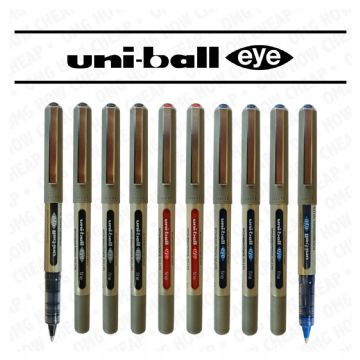 10 x UNI-BALL EYE ROLLERBALL PEN UB-157 (4 x Black, 4 x Blue, 2 x Red)
